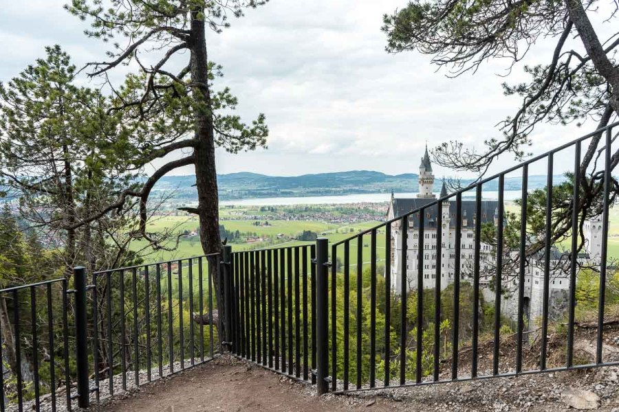 View of the Neuschwanstein Castle from a viewpoint