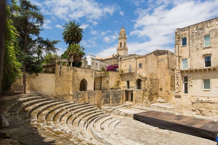 Small Roman theatre in Lecce, Italy