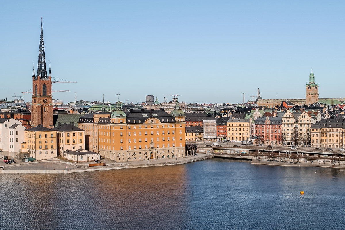 View of the Gamlastan (Old Town) in Stockholm