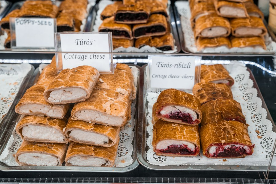 Strudels at the Christmas markets in Budapest
