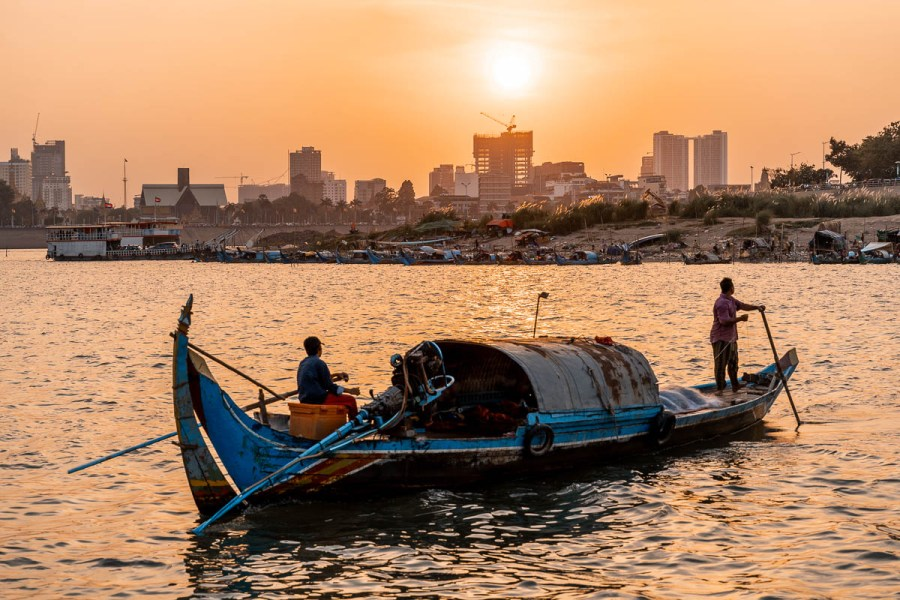 Sunset cruise on the Mekong river