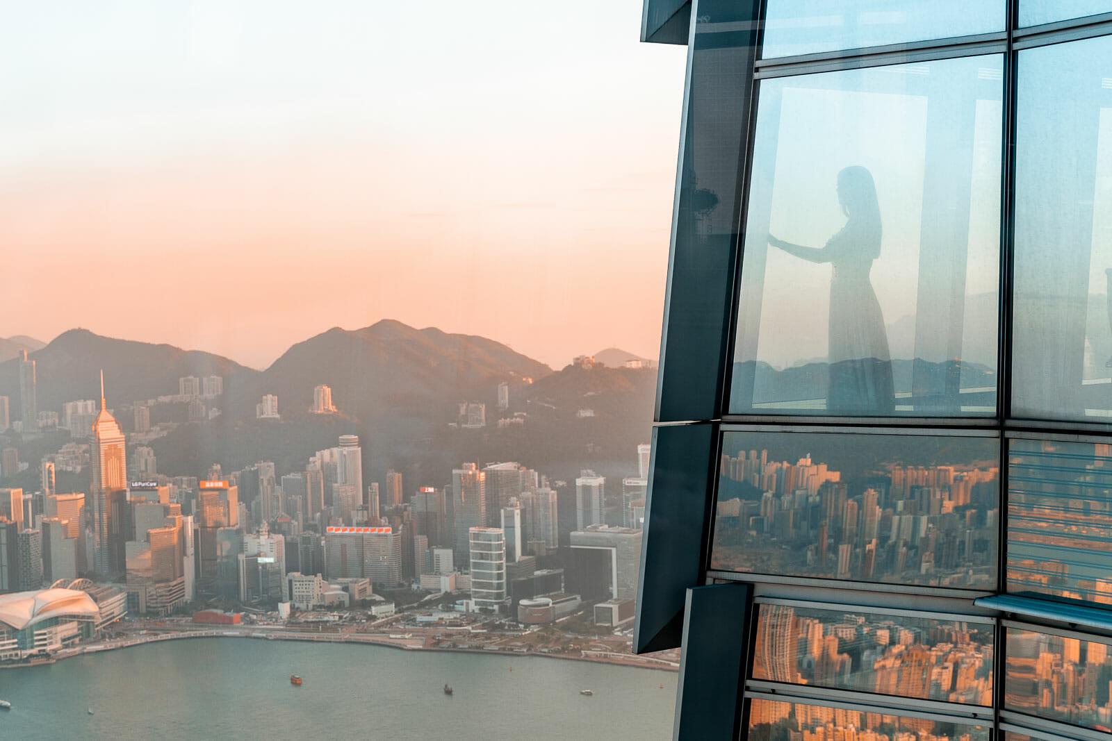 View from the room at Ritz Carlton Hong Kong 1