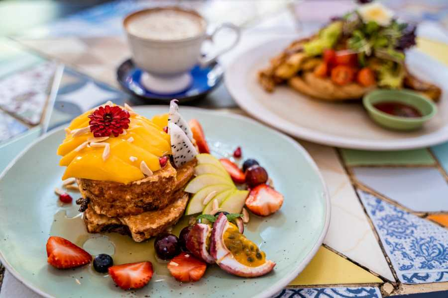 French toast for breakfast in Chiang Mai at SS1254372 Cafe