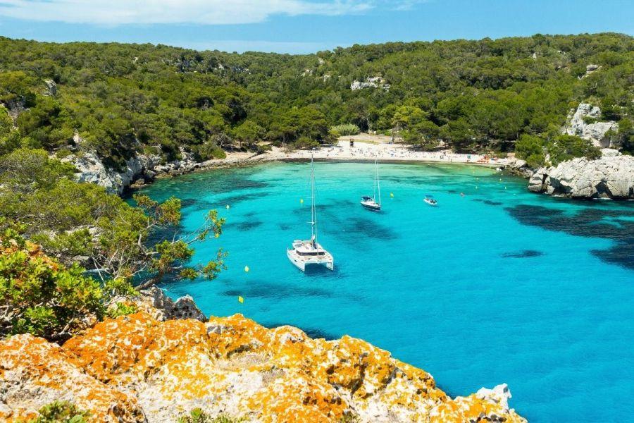 Cala Macarella beach in Menorca