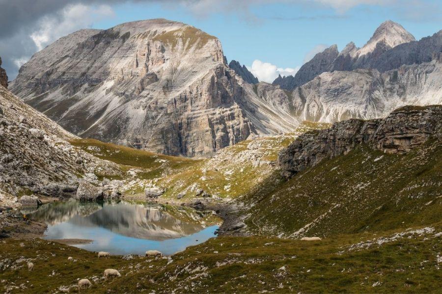 Lago di Crespeina in the Puez Odle Nature Park, Dolomites