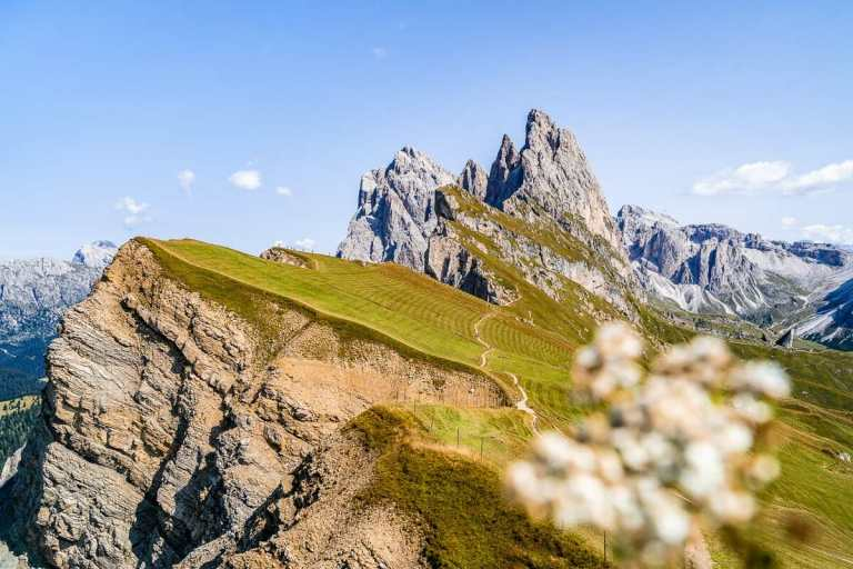 Seceda ridgeline in the Dolomites