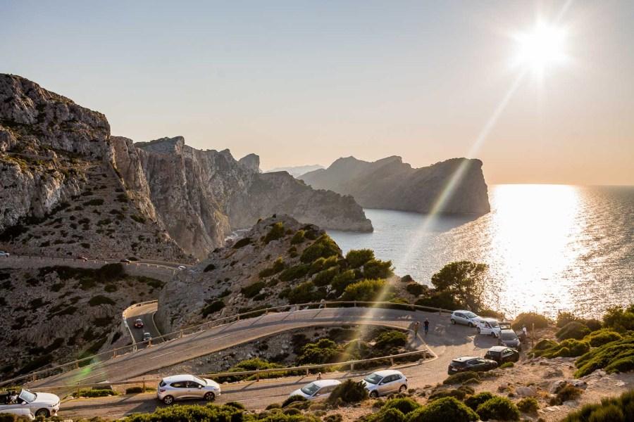 Sunset from Cap de Formentor in Mallorca