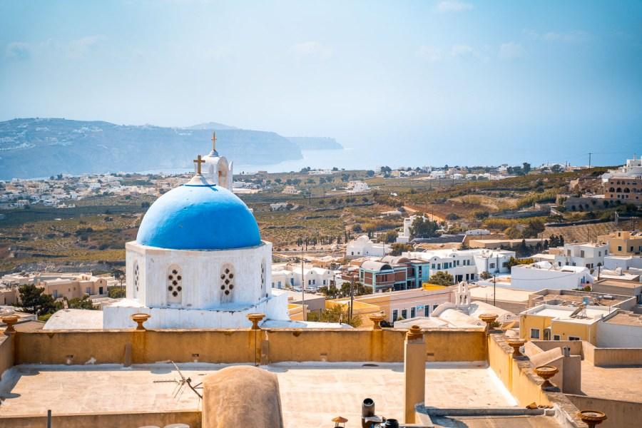 View from Pyrgos, Santorini