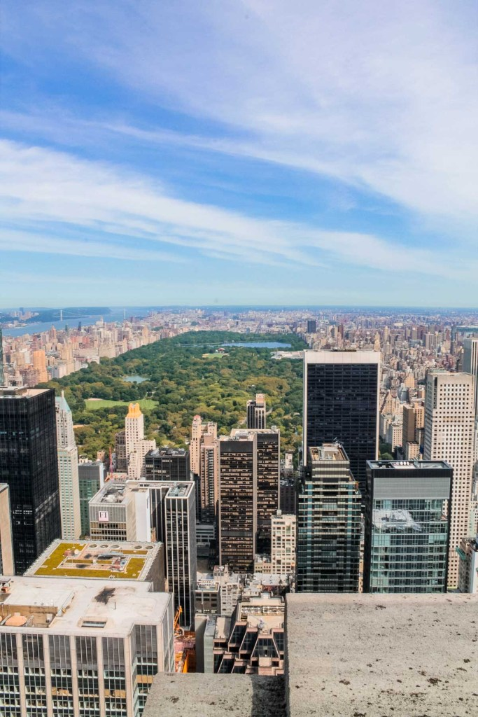 View from Top of the Rock over the Central Park