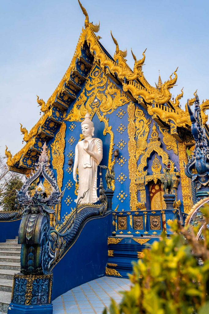 Wat Rong Suea Ten, the Blue Temple in Chiang Rai