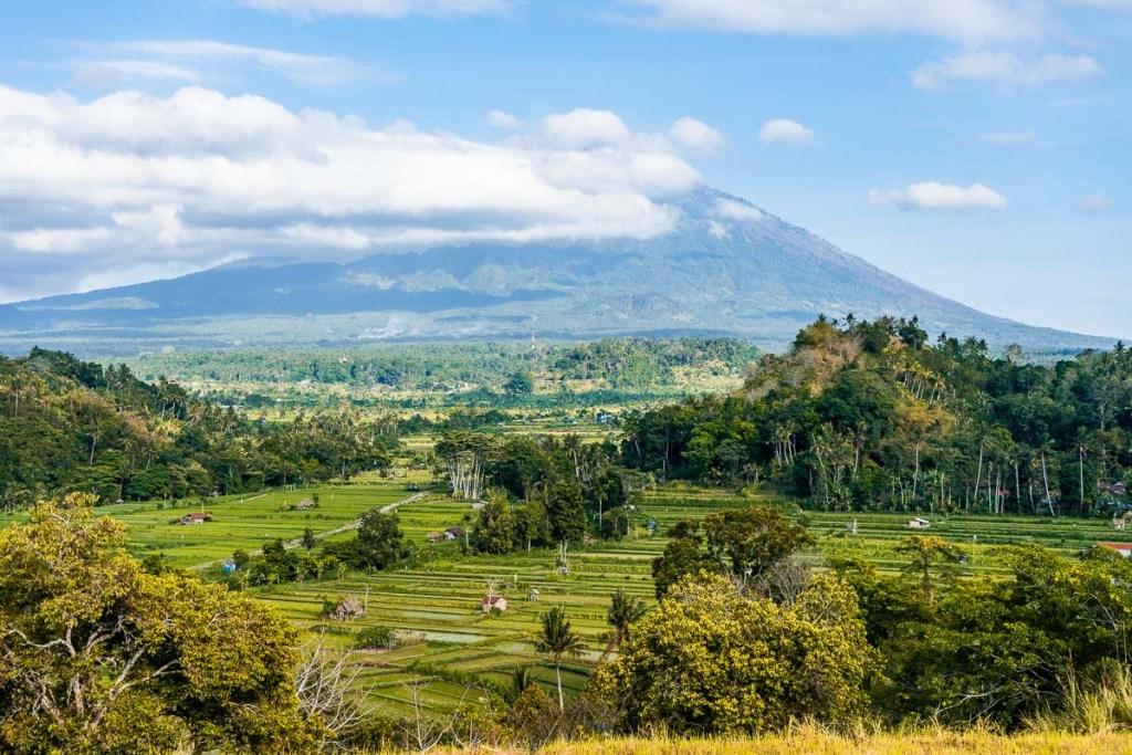 View of Mount Agung from Bukit Cinta, Bali