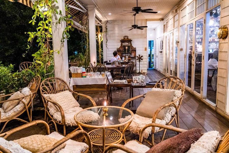 Outside terrace at Chivit Thamma Da Coffee House in Chiang Rai