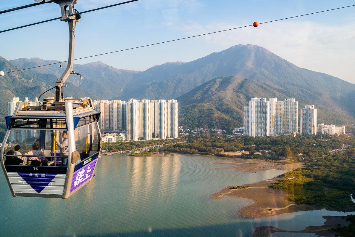 Ngong Ping Cable Car on Lantau Island, Hong Kong