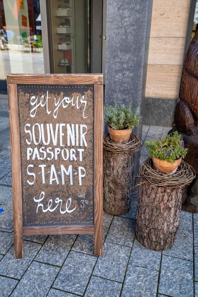 Passport stamp point at Liechtenstein