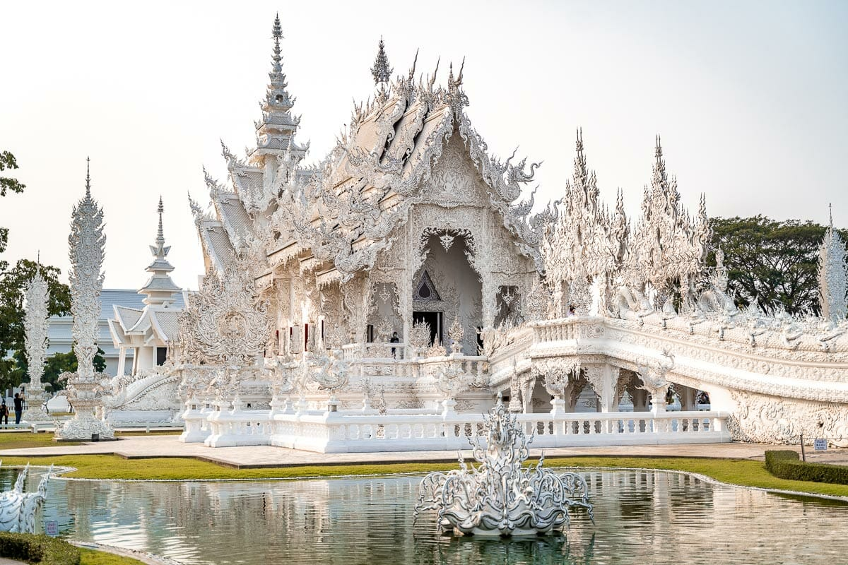 Wat Rong Khun, the White Temple in Chiang Rai, Thailand
