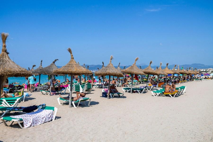 Beach in Ca'n Pastilla, Mallorca