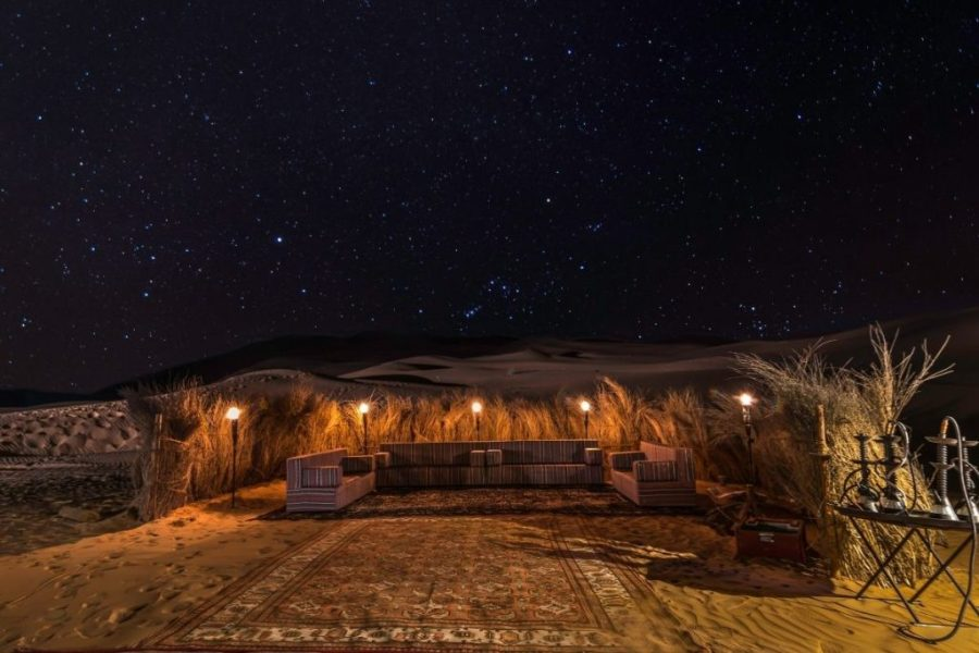 Dubai Desert Camp at Night