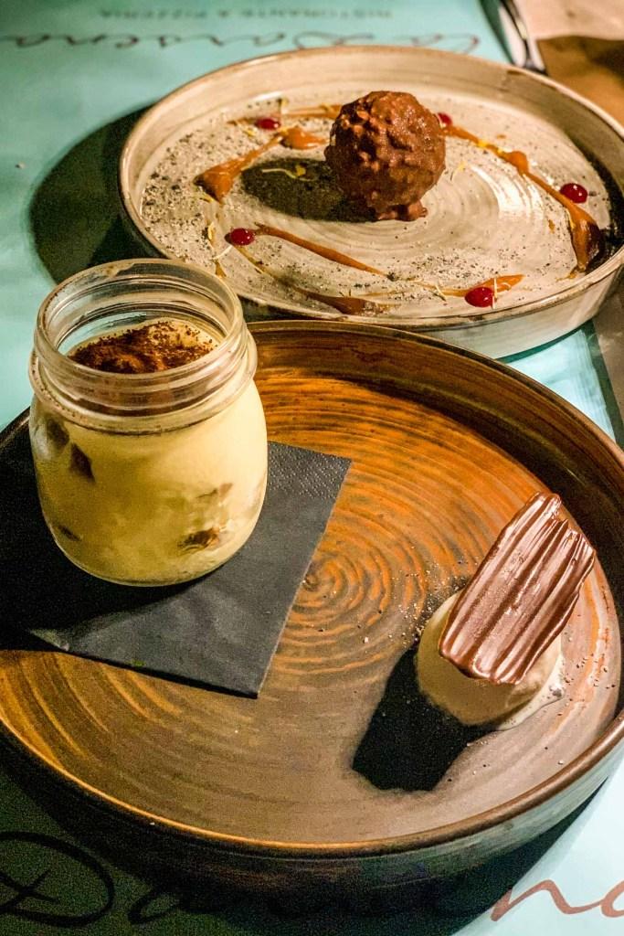 Dessert after dinner at La Darsena at Lake Garda