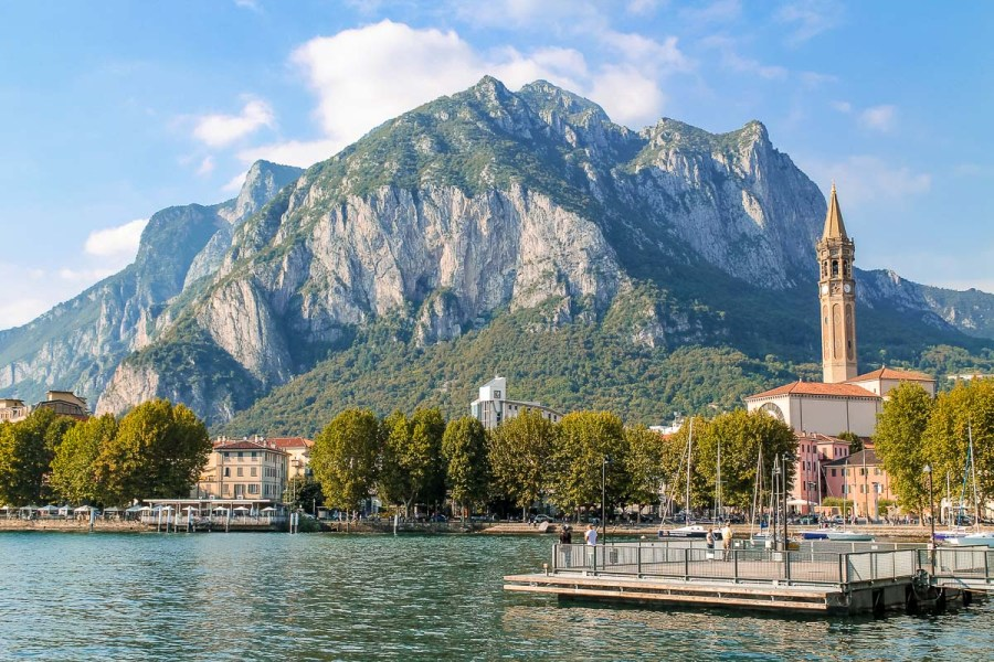 Panoramic view in Lecco, Lake Como, Italy