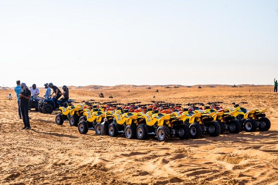 Quad bikes in the Dubai desert