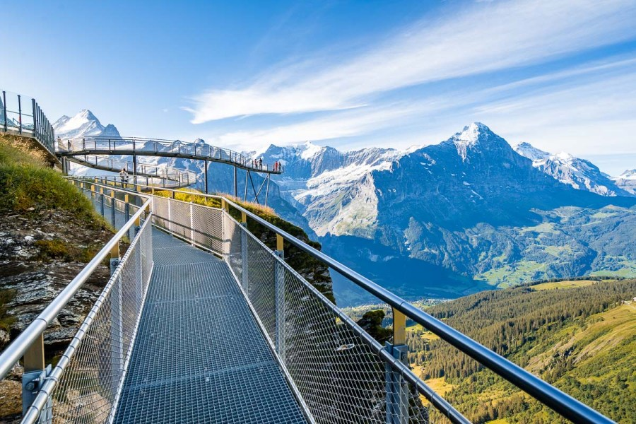 First Cliff Walk by Tissot, Grindelwald