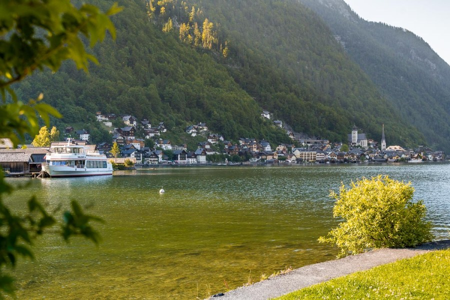 View from Small Island in Hallstatt