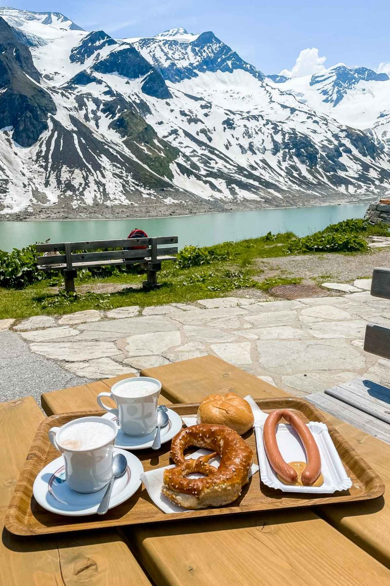 Lunch at Stausee Mooserboden, Austria