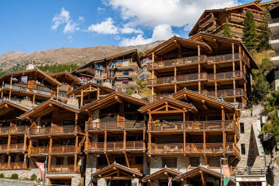 Wooden houses in Zermatt, Switzerland