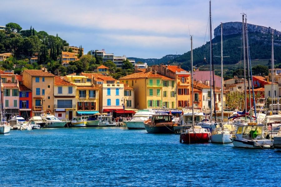 Colorful houses in Cassis, France