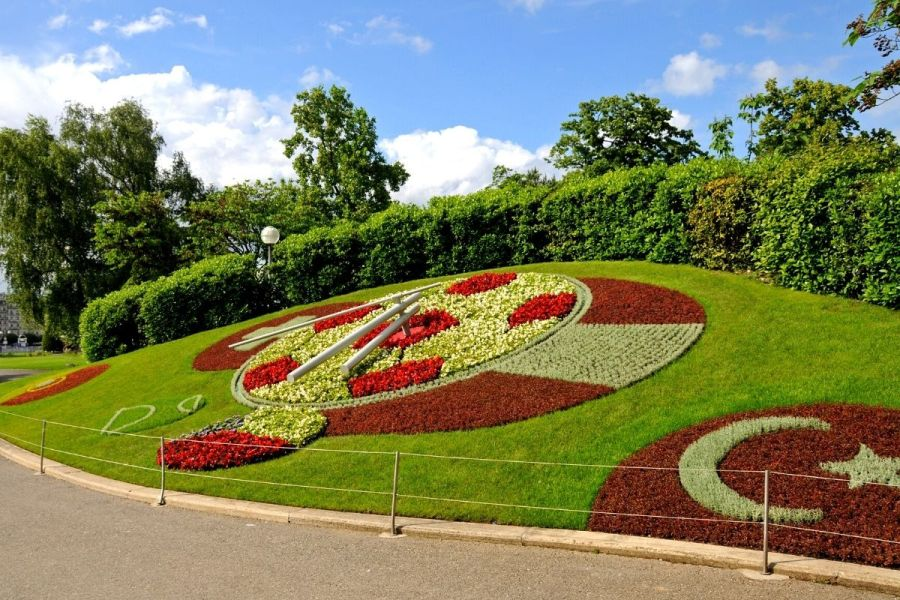 Floral Clock in Geneva