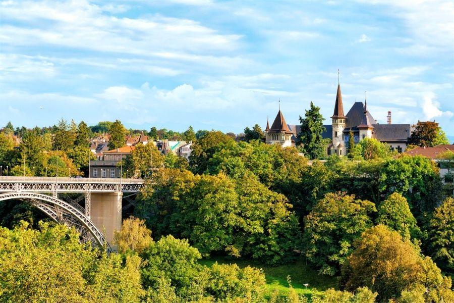 Kirchenfeld Bridge in Bern, Switzerland