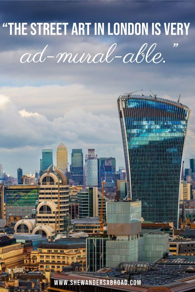 Short London Puns for Instagram