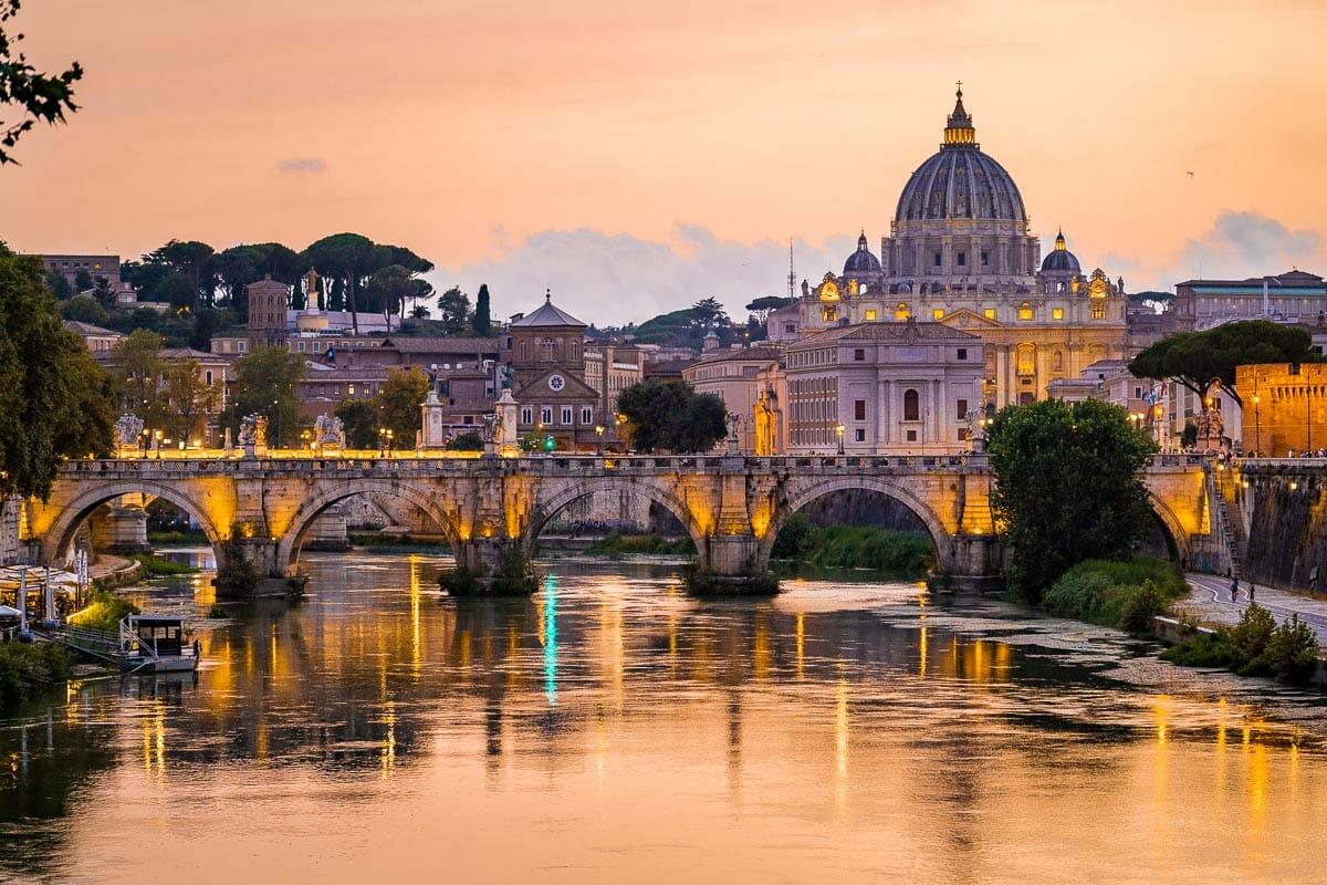 Sunset from Ponte Umberto I