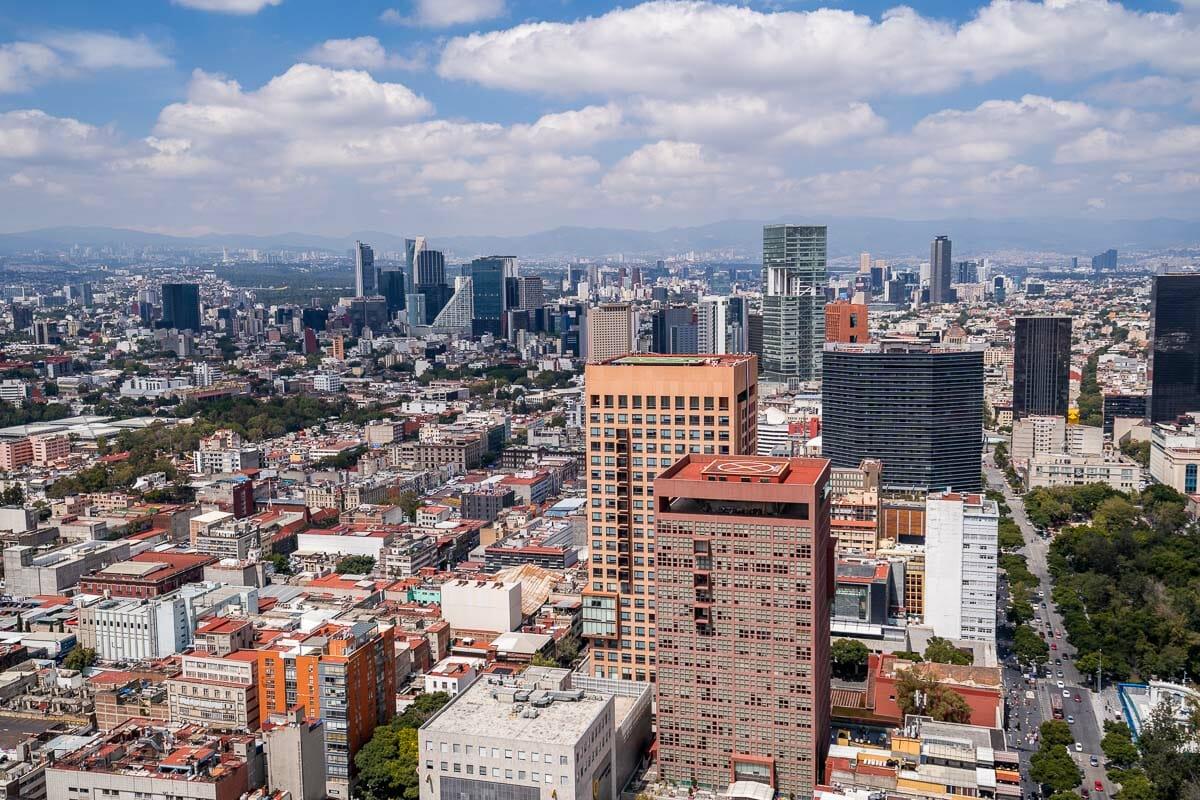 Mexico City skyline view from Torre Latinoamericana