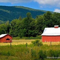 red barns on virginia creeper trail