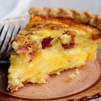 Brie and Bacon Quiche