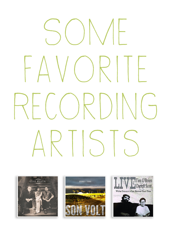 Sharing some current favorite music.