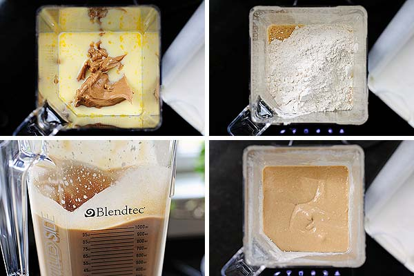 How to make batter with a blender   shewearsmanyhats.com