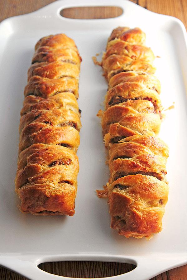 Sausage Apple Puff Pastry Braid Recipe