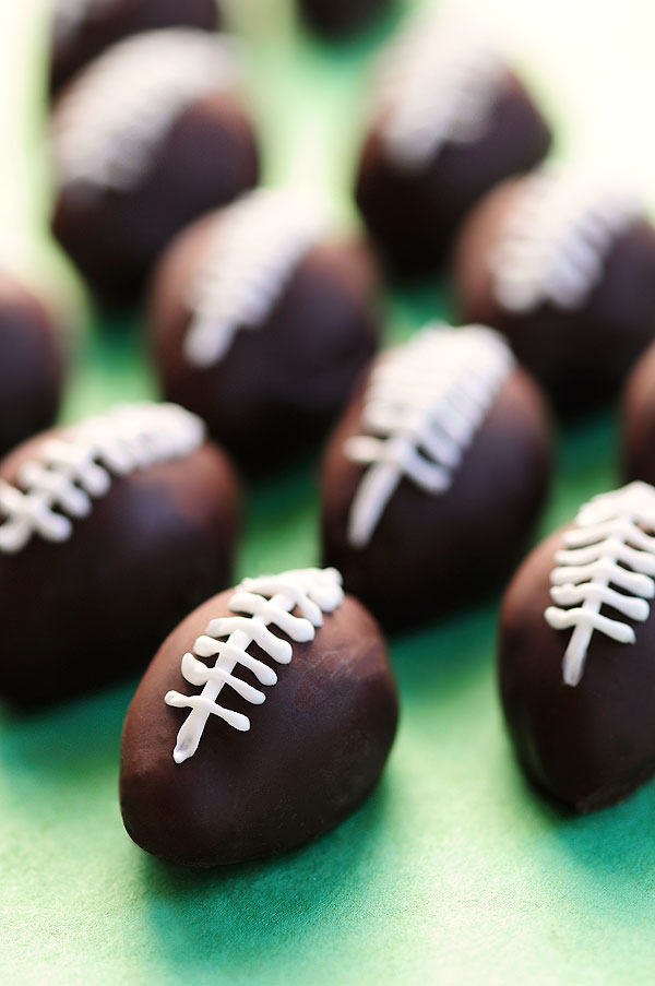 Chocolate Peanut Butter Footballs Recipe She Wears Many Hats