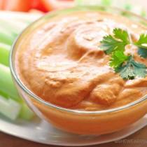 Easy Roasted Red Pepper Dip Recipe | shewearsmanyhats.com