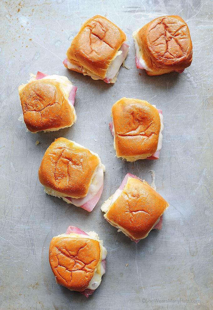 hot ham and cheese sliders recipe