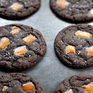 Dark Chocolate Salted Caramel Cookies Recipe