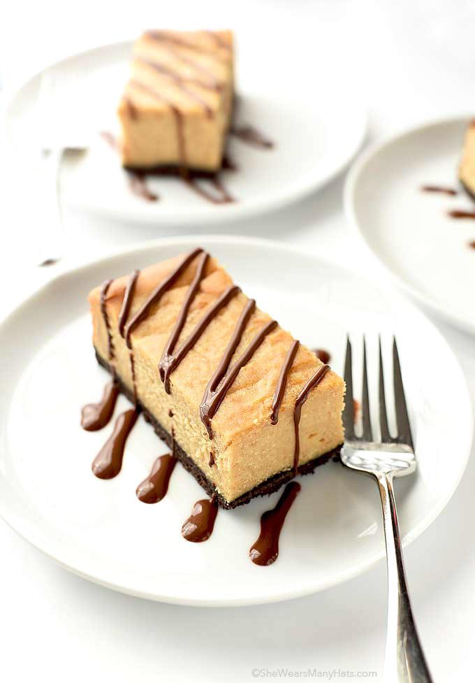 Chocolate Peanut Butter Cheesecake Bars Dessert   shewearsmanyhats.com