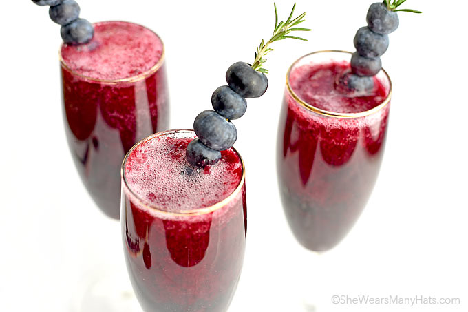 Blueberry Bellini recipe