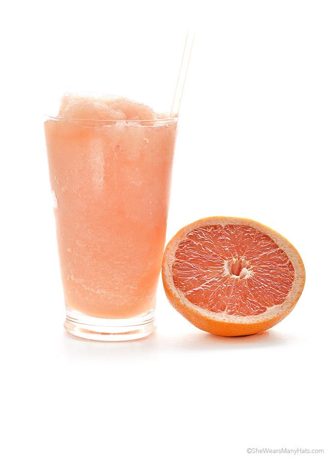 Easy Grapefruit Slush Recipe shewearsmanyhats.com