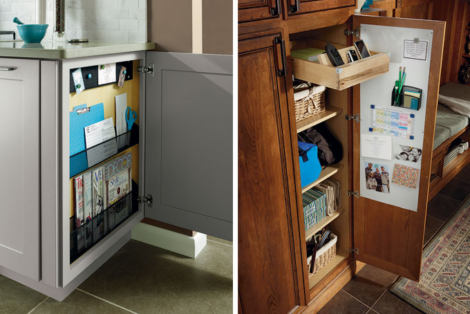 Drop Zone Customized Kitchen Cabinets from MasterBrand