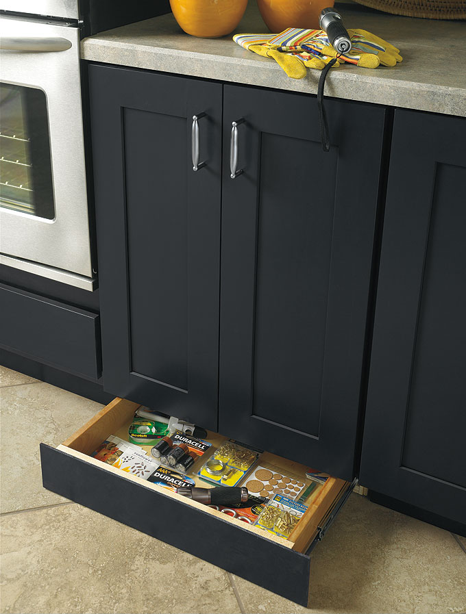 Toe Kick Drawer Customized Kitchen Cabinets from MasterBrand