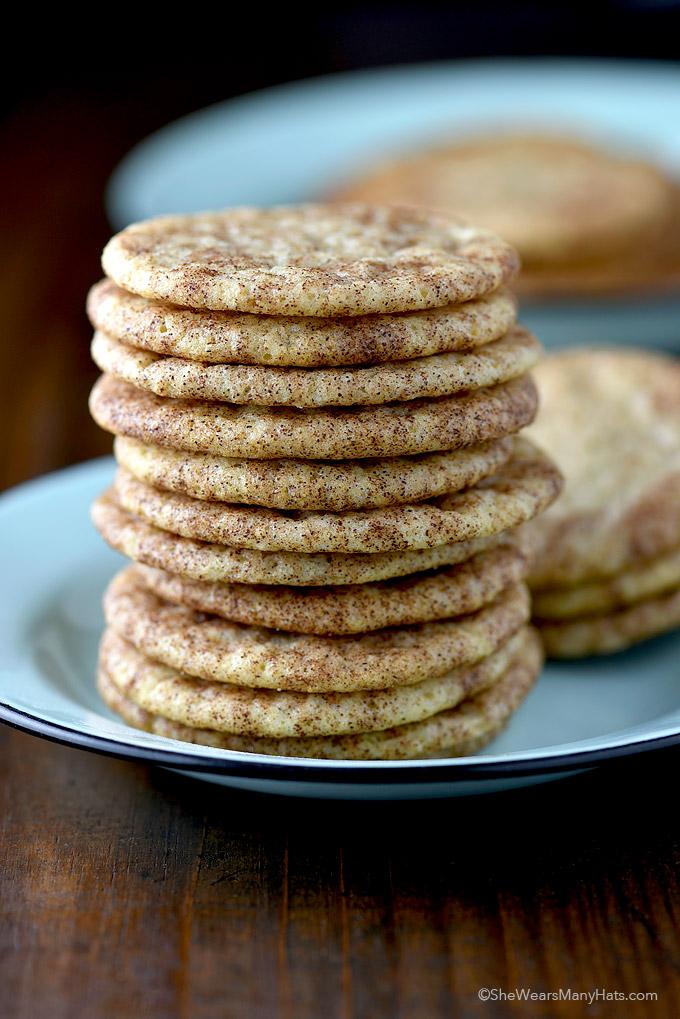 Snickerdoodles Cookie Recipe from shewearsmanyhats.com
