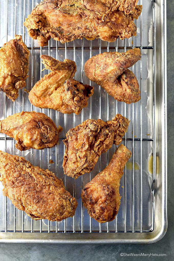 Perfect Fried Chicken Recipe | shewearsmanyhats.com
